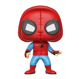 Marvel Ironman Toys Canada - T13 Funko POP Marvel Spider-Man Homecoming Spider-Man Homemade Suit The Joker Action figures Toy Captain america Ironman Black Widow X-Man H