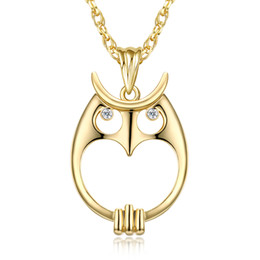 $enCountryForm.capitalKeyWord UK - Magnifying glass necklace for reading fashion Owl pendant necklace Rhodium plated with crystal Magnifier necklace