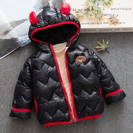 $enCountryForm.capitalKeyWord NZ - Winter Baby Boys Cartoon Bear Hooded Cotton Padded Girls Warm Parkas Snow Wear Children Kids Outerwear Coats