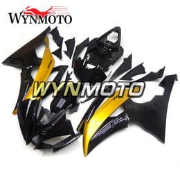 Discount yamaha r6 gold - Complete Bodywork Motorcycle ABS Fairing Kit For Yamaha YZF600 R6 2008 - 2016 2010 2011 2012 2013 2014 2015 Body Kits Bl