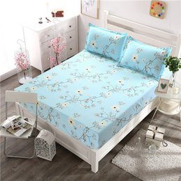 Discount purple floral bedding sets - 3pcs lot Bedding Sets Polyester Sheet Pillowcase Sets For Children Adults Single Double Bed Beauty Floral Bed Linens XF3