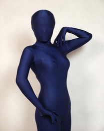 $enCountryForm.capitalKeyWord NZ - Dark Blue Full Body Spandex lycra Bodysuit Zentai Leotard Suit Adult Size Costumes Fancy Dress