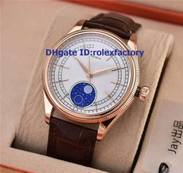 Mechanical Moonphase online shopping - BEST Luxury RX MOONPHASE Japan Automatic Mens Watch Rose Gold Sapphire Crystal Leather Strap Classic Watches mm