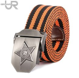 Star Belts Canada - New Men & Women High Quality 3D Five Rays Star Military Belt Old CCCP Army Belt Patriotic Retired Soldiers Canvas Jeans Belt
