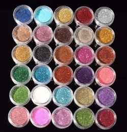 Random long online shopping - 30pcs Mixed Colors Eyeshadow Powder Pigment Glitter Mineral Spangle Eyeshadow Makeup Cosmetic Set Long lasting Random Color N05