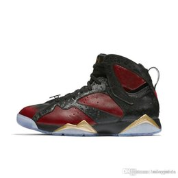 3b135f1333596f Cheap Mens Jumpman 7 VII basketball shoes 7s Doernbecher DB Black Red Gold  Hare Verde Marvin the Martain air J7 flight sneakers with box