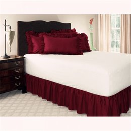 King brushes online shopping - Solid Bed Skirt Colors Brushed Cloth Bed Covers Without Bed Surface King Queen Size Elastic Band Skirts cm Height Bedspread