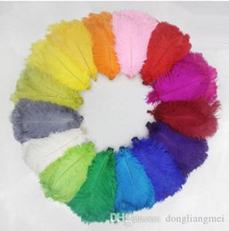 $enCountryForm.capitalKeyWord Australia - 100pcs lot 18-20inch(45-50cm) Bright Yellow orange Pink Purple Royal blue white black red Turquoise ostrich feathers z134