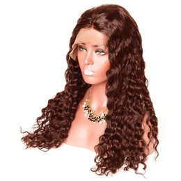 Light Brown Closure Australia - 130%150%180%Density 360 Lace Frontal Closure #2#4 light dark browm color Curly Brazilian Baby Hair Pre Plucked Natural Hairline 10-22