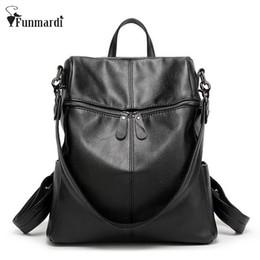 95077372edc5 New Fashion trendy PU leather backpacks Multifunction women bag simple  design Travel Bag High capacity leather bag WLHB1417