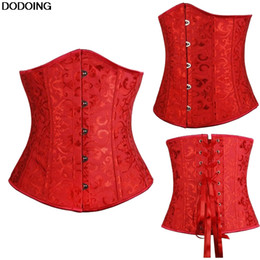 Discount jacquard corset - Corset Underbust Top Selling US Europe Style Beauty Sexy Female Intimates Cincher High Quality Corset Jacquard Plus Size