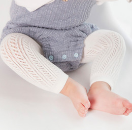 Gray Cotton Leggings Australia - Kids pantyhose baby girls hollow crochet leggings toddler kids cotton tights spring summer girls dance stockings baby cotton bottoms R2264