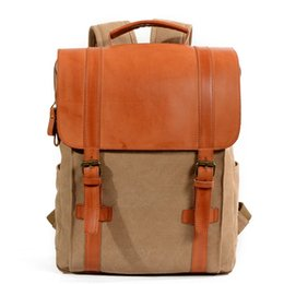 9e51ad7e44 Discount vintage leather rucksack backpack - YUPINXUAN Europe Fashion  Canvas Leather Backpacks for Teenagers Traveling Daypacks