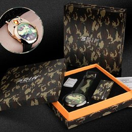 black lighter watch UK - 2018 Luxury watch camo Lighter Watch 2 In 1 Rechargeable Electronic USB Charge Flameless Cigar Wrist Watches Lighter