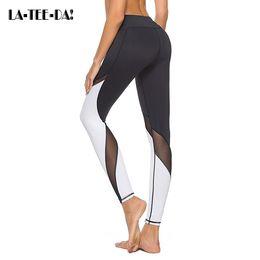 $enCountryForm.capitalKeyWord Canada - New Pro Mesh Yoga Pants Women High Elastic Leggings Lady Fitness Gym Trainning Running Tight Sport Female Trousers SS10006