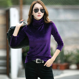 e479429a3 turtle neck tees 2019 - 2018 Autumn New Style Turtle Neck Lady's Knitted Sweater  Slim Tight