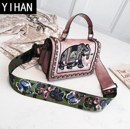 Wholesale Factory independent brand women bag fashion new color diamond bag exquisite bow printed lady shoulder bag elephant embroidery handbag