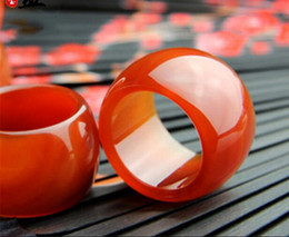 $enCountryForm.capitalKeyWord NZ - Prosperous jade industry natural red agate straight pull finger chalcedony ring fashion large ring men's