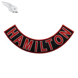 devil patches UK - Red Devils HAMILTON Rocker Embroidery Patches Iron On Clothing For Rider Jacket Vest Custom Design