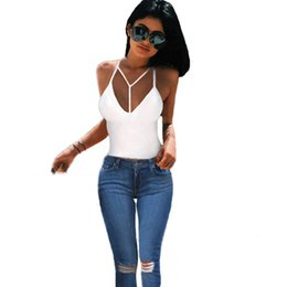 2e0081a5a7 Women Sexy Bralette Crop Tops Bustier Strappy Spaghetti Strap Beach Solid  Slim Camisole Tank Top Hollow Out Sleeveless Vest