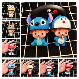 cool cartoon boys Canada - Cute Cartoon Doll Acrylic Keychain Key Ring 6 Style Bag Car Backpack Phone Cool Keychains Charms Small Promotional Gifts Wholesale