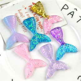 Hot Resin Mermaid tail Handmade DIY jewelry accessories for necklace keychains earrings phone case hot fashion mermaid tail DIY Components on Sale