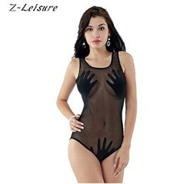 women s transparent swimwear UK - 2016 Sexy Women One-Piece Bathing Suit Swimwear Brand Transparent One Piece Swimsuit Plus Size Swimwear BK180