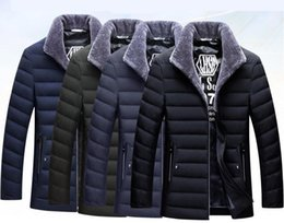 Para baixo jaqueta 2018hot engrossar o lazer de moda masculina de pato branco para baixo gola do casaco de roupas de marca dos homens para baixo de algodão acolchoado roupas venda por atacado