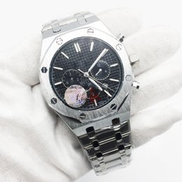 Royal stainless steel online shopping - Hot Sale Mens Watch Automatic Mechanical Royal Oak Silver Stainless Steel Black Dial Men Watches Male Wristwatch