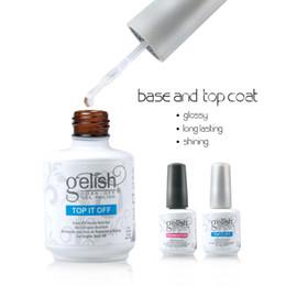 Base et dessus Harmoney Gelish Fashional Led Lampe Uv Base Coat No Wipe Gel Top Coat Fundation vernis gelish Laque Nail Art Laque Soak off