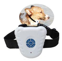 Ingrosso DHL Fedex Spedizione gratuita Ultrasuoni Anti Bark Stop Control Barking Collare per cani Regolabile stretch Pacakge da sacchetto dei pp, 300 pz / lotto SN385