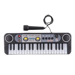 Chinese  Mini Electronic piano Multifunctional 37 Keys Electone Keyboard Musical Toys with Microphone Educational Toys for Children Beginners DHL manufacturers