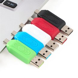 internal multi card readers NZ - SR 2 in 1 USB OTG Card Reader Universal Micro USB OTG TF SD Card Reader Phone Extension Headers Micro USB OTG Adapter