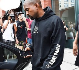$enCountryForm.capitalKeyWord NZ - Kanye West Saint Pablo Hoodies Mens Hip Pop Loose Clothing Black Cotton Letters Print Hooded Pullover