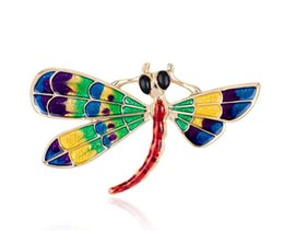 rainbow brooches UK - Rainbow Wings Flydragon Pin Brooch Designer Brooches Badge Metal Enamel Pin Broche Women Luxury Jewelry Wedding Party Decoration