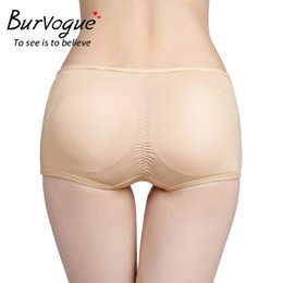 a5eefc7ea74 Burvogue Plus Size Butt Lifter Panty Hip Enhancer Shaper with Removable Pads  Slimming Body Shaper Tummy Control Briefs Underwear