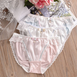 Milk Silk Cute Lovely Girls Panties Sexy Lace Low Waist Sweet Style Woman  Underwear Seamless Briefs Knickers Calcinha Underpants b9c66faf8