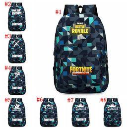 CheCkered baCkpaCks online shopping - 8 designs Fortnite Backpacks cm Fortnit Printed Checkered School Backpack for Boys Girls Student Schoolbag Fortnite Bags MMA485