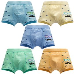 Maternity Kids Boy underwear Boxes Mustache Shorts Cotton Regenerated fibre Kids Clothing 2018 Wholesale from boxer sizes suppliers