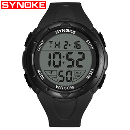 Sports Watches Waterproof Wristwatches Luxury Digital Canada - SYNOKE Men's Watch Sport Digital Wristwatch Electronic Luxury Finess Waterproof Watches Tops Diving Dropship