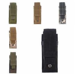 Flashlight Brown Australia - Tactical Molle Pouch Tactical Single Pistol Magazine Pouch Knife Flashlight Sheath Airsoft Hunting Ammo Camo Bags Tactical Waist Packs.