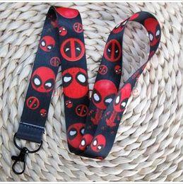 $enCountryForm.capitalKeyWord NZ - Lot 50 PCS Marvel company cartoon Deadpool Death service Cell Phone Lanyards Key Chain Neck Strap Keys
