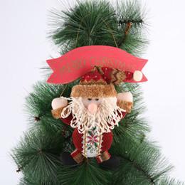 Christmas Gadgets Australia - Santa Claus Snow Man Doll Christmas Decorations Xmas Tree Gadgets Ornaments Doll Christmas Gift New 2018