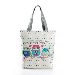 $enCountryForm.capitalKeyWord Canada - Floral And Owl Printed Women's Casual Tote Female Daily Use Female Shopping Bag Ladies Single Shoulder Handbag Simple Beach Bag
