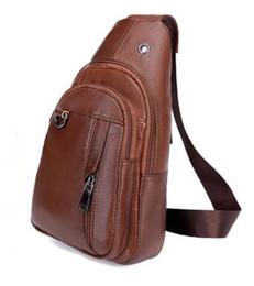 Body Chains Back UK - High Quality Men Genuine Leather Cowhide Vintage Chest Back Pack Travel fashion Cross Body Messenger Shoulder Bag