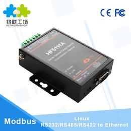 CE FCC oficial HF5111A RJ45 RS232 / 485/422 un Ethernet Linux Servidor de puerto série industrielle converti en Solde