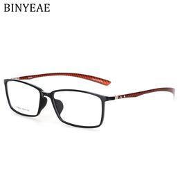 myopia glasses male eyeglasses frame 2018 - BINYEAE Brand Carbon Fiber Male Frame armacao oculos de grau Eye Glasses Quality Frames Female Eyeglasses Frame for Myop