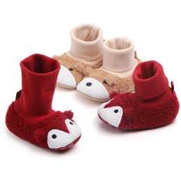 $enCountryForm.capitalKeyWord Australia - Cute Snow Cotton Warm Shoes Infant Soft Soled Newborn Winter Baby Shoes For Girl Anti-slip Booties