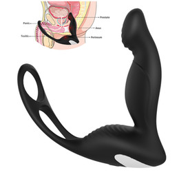 Anal Toys For Males Australia - gelugee Male Prostate Massage Vibrator Sex Toys for Coulps Silicone Anal Butt Plug Erotic Toys Sex Product for Men D18110904