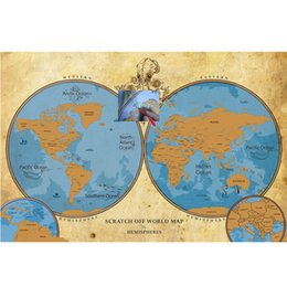 Scratch off world map poster online scratch off world map poster scratch map scratch off world travel poster map mark your travels wholesale personalized gumiabroncs Images